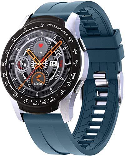 JIAJBG Smart Watch Sport Smart Watch Monitor de Ritmo Cardíaco Monitor de Muñeca Fitness Pedómetro Rastreador Impermeable Reloj con Presión Arterial-Negro El mejor regalo/Azul
