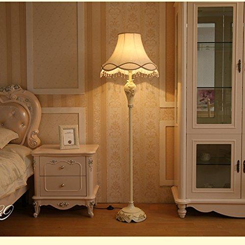 ZIXUANJIAXL Stehende Stehlampen Stehleuchte Harz Stoff 45 * 164cm Europäische Wohnzimmer American Retro Kreative Studie Schlafzimmer Nachtstehleuchte