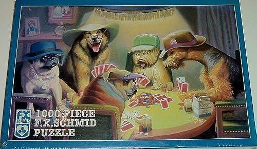 bienvenido a elegir Schmid Schmid Schmid Dog Puzzle The Cardplayers 1000 Pieces by Schmid  barato en alta calidad