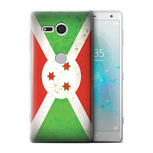 Stuff4® hoes/case voor Sony Xperia XZ2 Compact/Bourundi/Bourgondisch patroon/Afrika vlag collectie