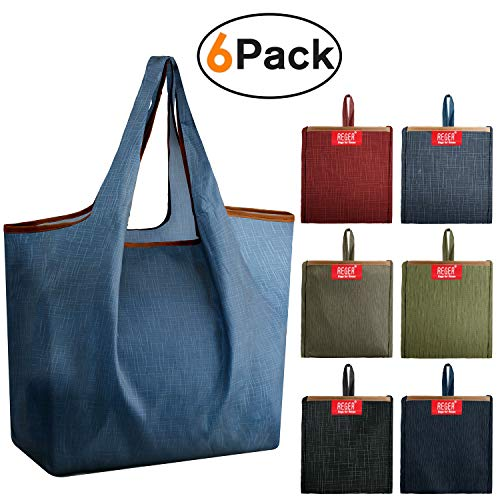Grocery Bags Reusable Shopping Bags Foldable With...