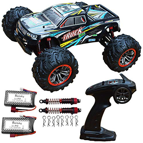 Blomiky 9125 Large Size 1 10 Scale 46KM H High Speed IPX4 4WD RC Toys Trucks for Kids and Adults 9125 Black Blue