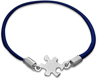 Fundraising For A Cause Autism Awareness Puzzle Piece Stretch Bracelet - Adult