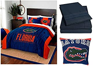 Northwest NCAA Florida Gators Modern Take 8pc Queen Bedding Set - Includes Comforter, 2 Shams, Flat Sheet, Fitted Sheet, 2 Pillowcases, and Pillow