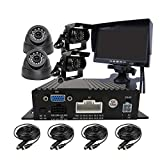 JOINLGO 4 Channel H.264 720P AHD 512GB SD Vehicle Car DVR MDVR Video Recorder...