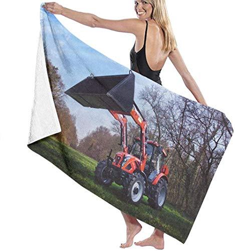 Strandtuch Traktor Farm Machine Große Mikrofaser Für Erwachsene Kinder Ideal Für Schwimmreisen Yoga Sport Camping Sonnenliege Bad Duschhandtuch 80X130 cm