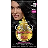 Garnier Olia Ammonia-Free Brilliant Color Oil-Rich Permanent Hair Color, 2.11 Platinum Black (Pack...