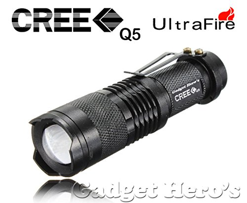 Gadget Hero's XR-E Q5 7-Watt Torch (Black)