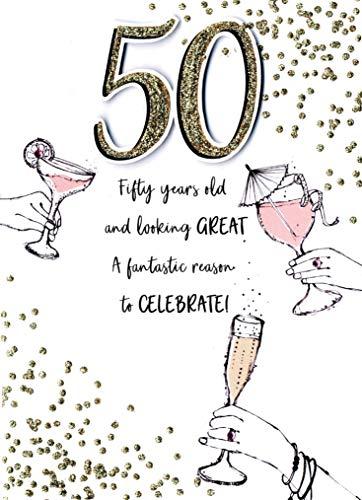 Just To Say 50 & Look Great - Tarjeta de felicitación de 50 cumpleaños, diseño de Second Nature Cards JT170