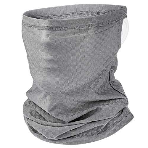 Ear Hangers UV Protection Neck Gaiter Mask, Thin Unisex Summer Face Scarf Bandana Balaclava for Fishing Cycling Hiking