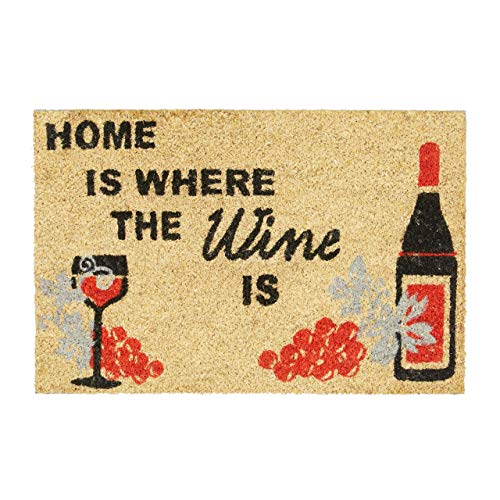 Relaxdays   Home Where The Wine Is Zerbino per Ingresso, Legno_Composito, Multicolore, 40 x 60 cm