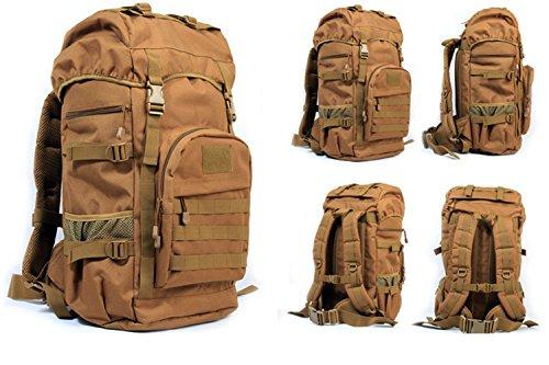 Greenpromise 50L Outdoor militare tattico zaino grande capacità campeggio alpinismo borse borsa da uomo, zaino da trekking, zaino da viaggio, Khaki