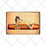 muzi928 Hojalata de alcantarilla Cigarros Carteles de Chapa Vintage Metal Pin Up Cartel Arte de la P...