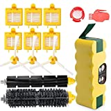 efluky 3500mAh Ni-MH Replacement Roomba Battery + Replacement Accessory Part Kit for iRobot Roomba 700 Series 700 760 770 780 790 - a Set of 14