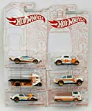 Hot Wheels 2020 Pearl and Chrome Exclusive Muscle Speeder, '32 Ford, Fast-Bed Hauler, '55 Chevy Bel Air Gasser, '68 Corvette Gas Monkey Garage, Volkswagen T2 Pickup - Complete Set of 6!