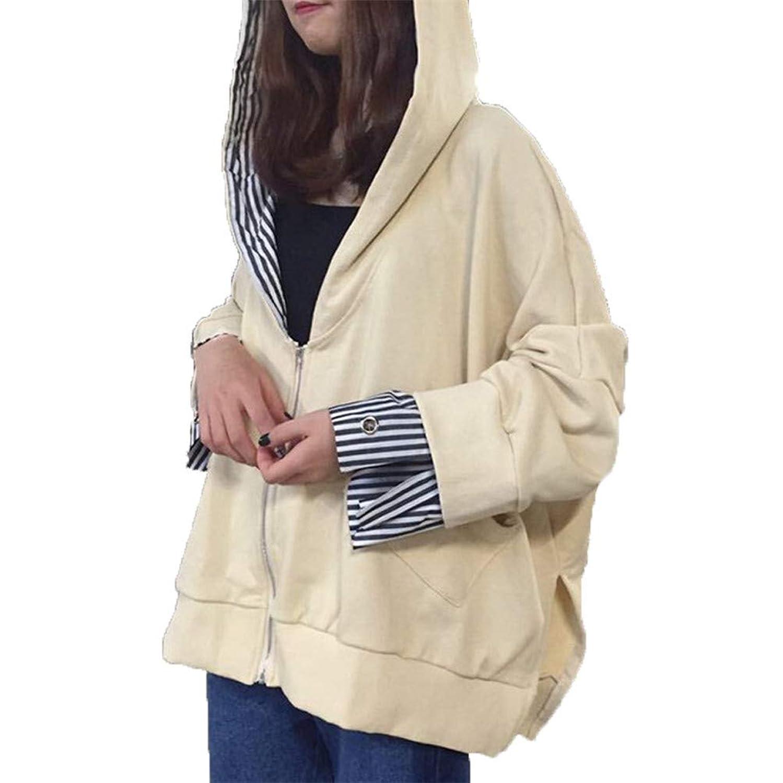 [美しいです]春秋 レディース 学院風 パーカー ゆったり プルオーバー 上着 不規則な裾 トップス おしゃれ レジャー ジャケット スウェットシャツ