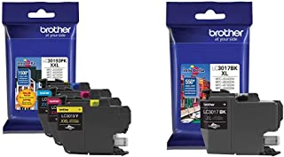 $95 » Brother Printer LC30193PK Super High Yield XXL 3 Pack Ink Cartridges- 1 Ea: Cyan/Magenta/Yellow Ink & LC3017BK High Yield ...
