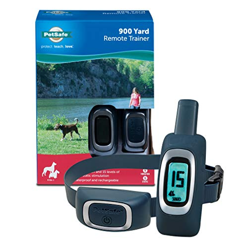 PetSafe 900 Yard Remote Training Collar – Choose from Tone, Vibration, or 15 Levels of Static...