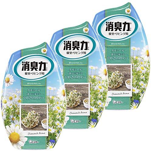 【まとめ買い】 お部屋の消臭力 消臭芳香剤 寝室用 寝室 部屋 アロマカモミールの香り 400ml×3個