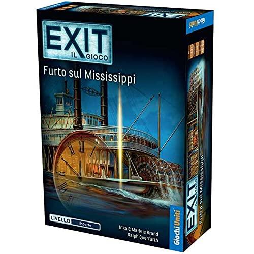 Giochi Uniti - Exit: Furto Sul Mississipi - Edizione Italiana Gioco di Avventura, Multicolore, GU690