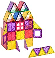 Set di gioco di piastrine magnetiche da 60 pezzi - Questo set classico di Playmags consente ai bambini di costruire, giocare e imparare per ore di intrattenimento educativo; Consigliato per le età 3+ Magnete piastrelle più potenti - Set Include 54 te...