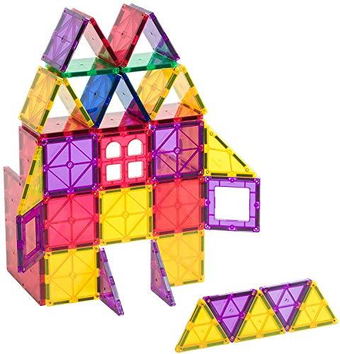 Playmags 60 Piezas Starter Set: con imanes más Fuertes garantizados, Robusto, súper...