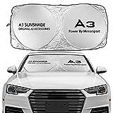 Parabrisas de Coches Sun Shade Cover Visores Frontales Compatible con Audi A3 8P S3 8V 8L Sportback E-Tron Limusine Accesorios Parasoles
