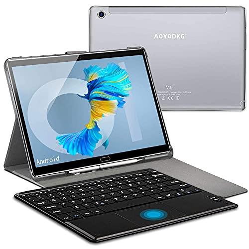 Tablet 10.8 Pulgadas 2K Píxeles Dual 5G WiFi/10 Cores 2.3Ghz, 6GB RAM + 128GB ROM/512GB Escalable Android 10.0 Pie Convertible Laptop | Dual SIM 4G-8000mAh 8MP+16MP Dual GPS Bluetooth 5.0 Type-C Plata