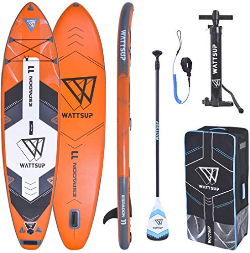 "WS WattSUP Espadon 11'0"" SUP Board Stand Up Paddle Surf-Board Paddel ISUP 335x81cm"