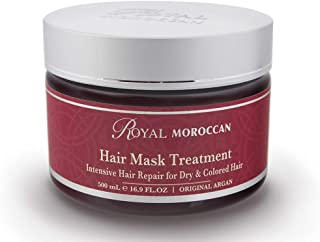 Hair Mask Treatment For Dry Hair Royal Moroccan Formula - Moisturizing For Dry and Colored Hair 500 ml 16.9 fl.oz, Base Of Moroccan Argan Oil, For Color – Treated Hair, Frizzy Hair.