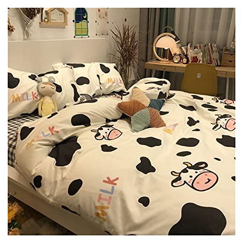 ZQYR Cute patrón cómodo sábanas de Microfibra Ultra Suave sábanas Transpirable Resistente a Las Hojas de Cuatro Piezas de Cuatro Piezas Lavable 511 (Color : Cattle, Size : Medium)
