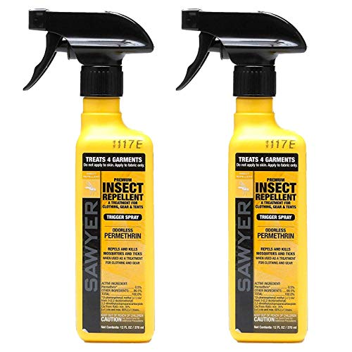 Sawyer Products SP6492 Premium Permethrin Clothing Insect Repellent Trigger Spray, Twin Pack,...