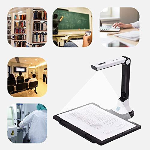 WANGYONGQI Escáner portátil de Libros Escáner de Documentos de Alta definición de 10 megapíxeles con Placa de plástico Duro para escáner de Archivos A4