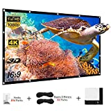 Yisiga 120 Inches Projector Screen,16:9 HD 4K Foldable Anti-Crease Portable Projector Movies Screen