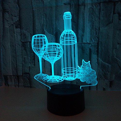 Fles cadeau 3D bedlampje Touch Remote Home tafellamp voor woonkamer bureaulamp tafel modern nachtlampje
