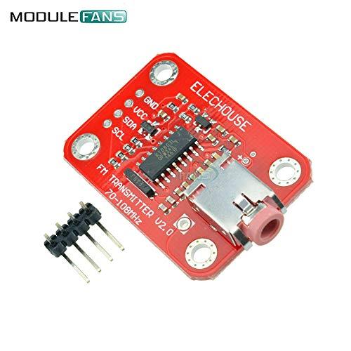 I2C IIC Interface FM FunkSender Modul V 2.0 Digital Radio Sender Board für Arduino TTL MIC VCC SDA SCL 3V 5V