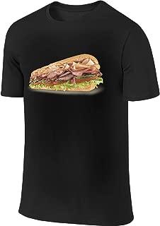 Kaivis New Custom Subway Sandwich Fashion Funny T Shirt Short Sleeve for Man Black