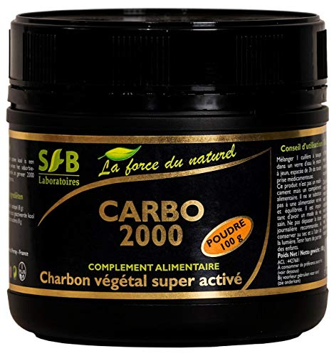Charbon végétal super activé Carbo 2000- pot de 100g - laboratoires Sfb