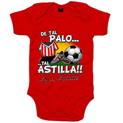 Body bebé de tal palo tal astilla para hijos y padres del Athletic - Rojo, Talla única 12 meses