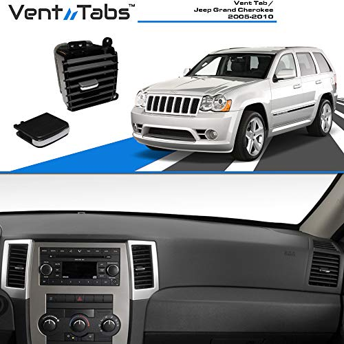 Venttabs for Jeep Grand Cherokee 2005-2010 Air Conditioning Vent Replacement Tab | 30-Second Installation | Easy Clip | No Screws or Tools Required | American Design-Vent Outlet Tab Clip