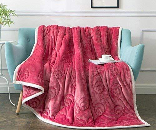 Kristalachtige kleur dikke herfst en winter dekens verdikte drie lagen composiet eenvoudige stijl plafond 150 X 200 Cm blauw