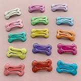 PPuujia Horquillas antideslizantes para el pelo de 2,5 cm con forma de hueso puro, pinzas para el pelo de perro, horquilla, cachorro, gato, perro, accesorios de aseo (color: 2,5 cm, forma de hueso A)