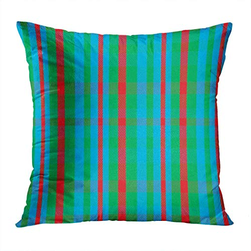 Pamela Hill Throw Pillow Decor Square 20 x 20 Pulgadas Buffalo Plaid Cuadros Retro Classic Nostalgia Art Funda de cojín Decorativo súper Suave