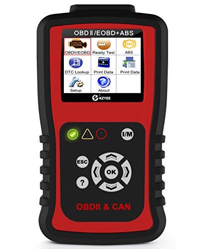 KZYEE KC401 OBDII Lector de Código OBD2 Auto Escáner Diagnóstico Dispositivo Code Scanner Reader ABS Leer y Claros Códigos CAN Bus J1850 VPW ISO 9141-2 J1850 PWM ISO 14230 KWP