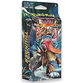Pokemon TCG  Sun & Moon - Lost Thunder Blazing Volcanion 60-Card Theme Deck Featuring A Holographic Entei