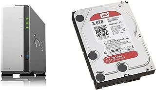 【NASキット】Synology DiskStation DS119j [1ベイ /  デュアルコアCPU搭載 / 256MBメモリ搭載] シンプルな初心者向け & Western Digital HDD 内蔵ハードディスク 3.5インチ 3TB WD Red NAS用 WD30EFRX 5400rpm 3年保証