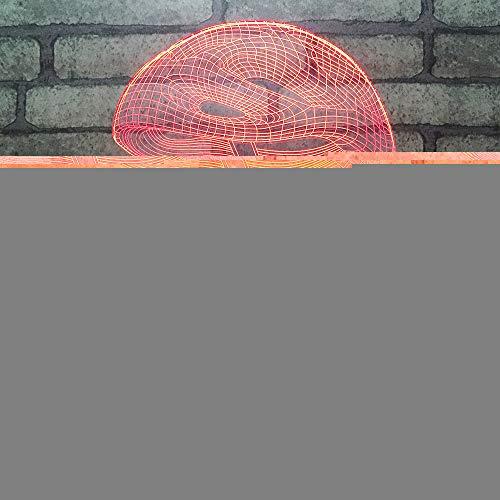 JYHW 3D-led-nachtlampje, creatief, voor mountainbike, tafellamp, usb-verlichting, cadeau voor verjaardag