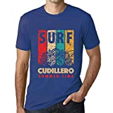 One in the City Hombre Camiseta Vintage T-Shirt Gráfico Surf Summer Time CUDILLERO Azul Real