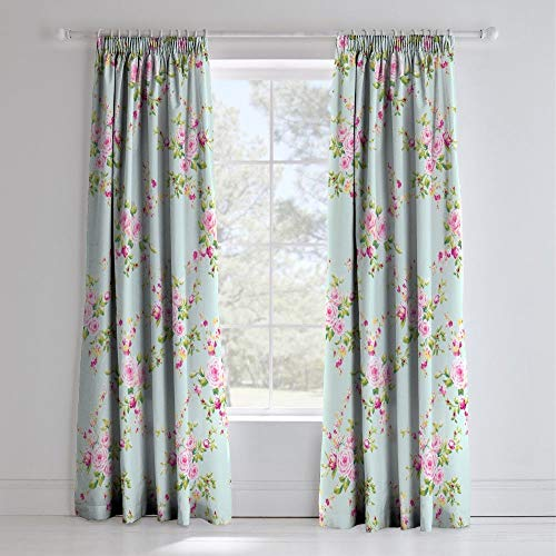 Catherine Lansfield Canterbury Floral Vintage Polycotton Curtains in Multi