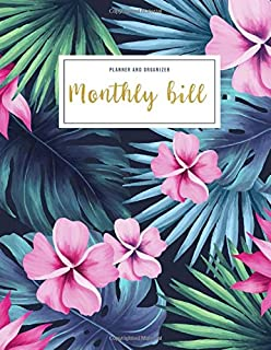 Monthly Bill Planner and Organizer: monthly bill checklist | 3 Year Calendar 2020-2022 Weekly Expense Tracker Bill Organizer Notebook For Business ... Made In USA (Financial Planner Budget Book)